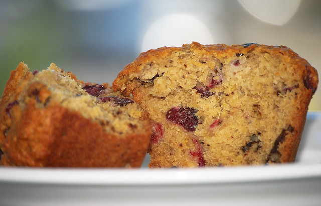 Bran and Cranberry Muffin