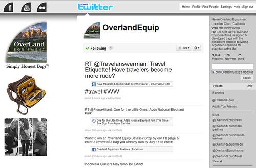 Overland Equipment Twitter Profile