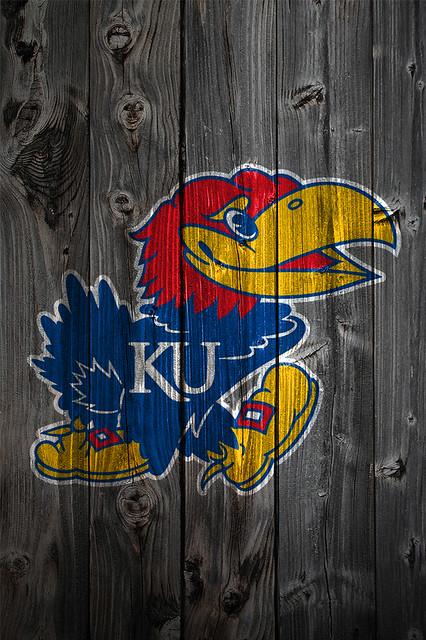 ... background kansas jayhawks logo on wood background iphone 4 wallpaper