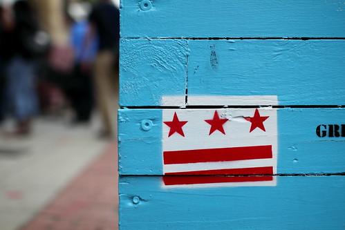 H Street NE DC Flag