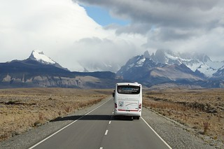 The road to El Chalten from El Calafate