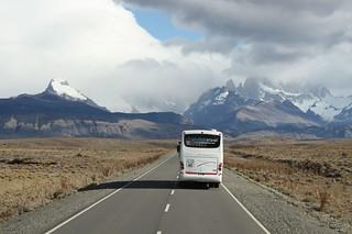 The road to El Chalten from El Calafate