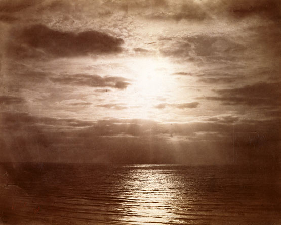 Le Soleil couronné, Effect of Sun on clouds, c.1856-1857, Gustave Le Gray