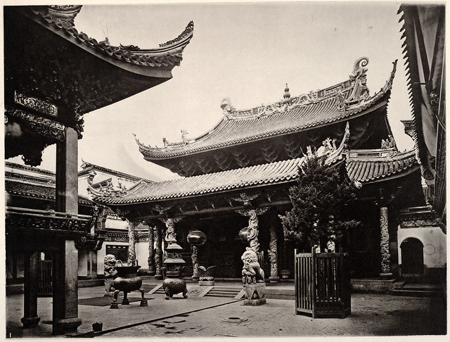 Fukien Temple, by John Thomson c.1874