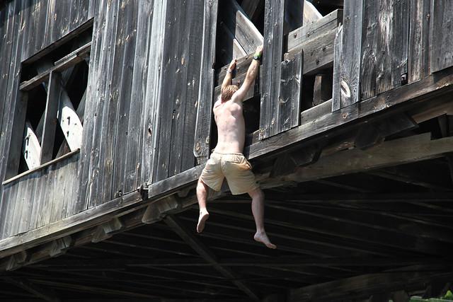 Jumping Off The Scott Bridge In Towshend Vt Flickr
