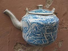 art, pottery, blue and white porcelain, ceramic, blue, teapot, porcelain,