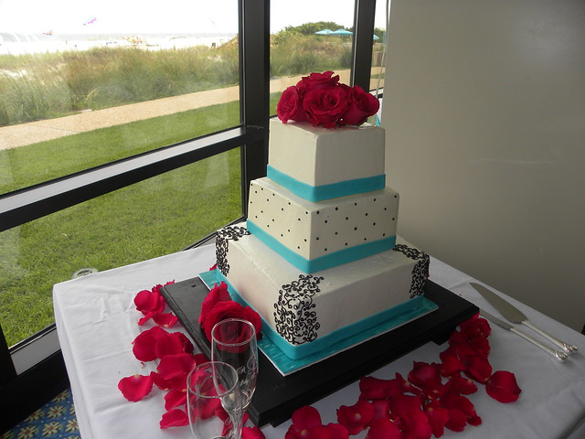and teal wedding cake carolina cakes confections wilmington nc