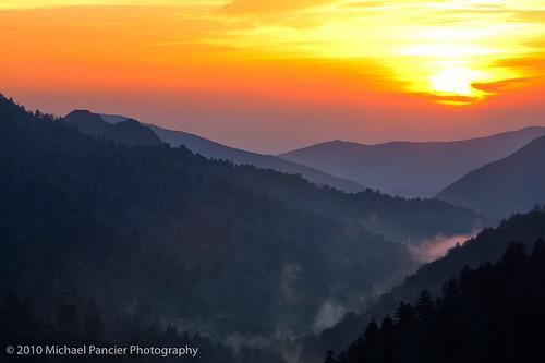 sunset usa nature landscape tn tennessee gatlinburg nationalparks greatsmokymountainnationalpark us441 michaelpancierphotography michaelapancier mortonsoverlook americasnationalparks