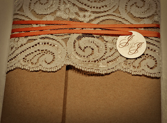 Wedding Invitations Recycled Paper: Lace/Recycled Wedding Invitations