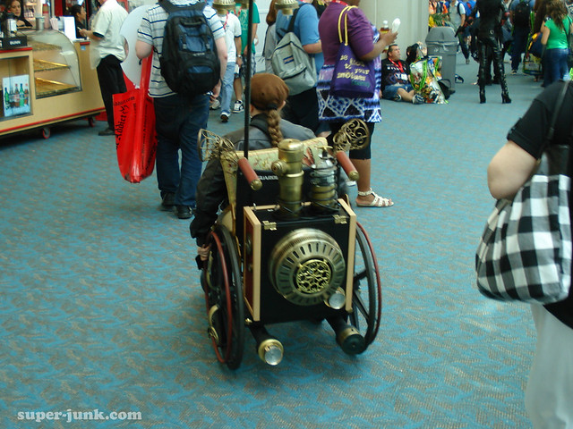 wish i had a shot of the front of the steampunk wheelchair - it was beautiful!