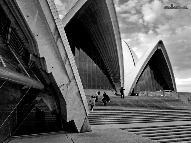 Sydney Opera House in Grey