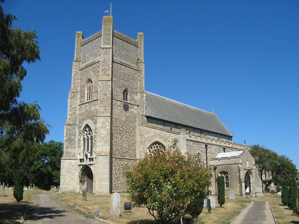 14th century St Bartholomew's Church in Orford Suffolk Coast