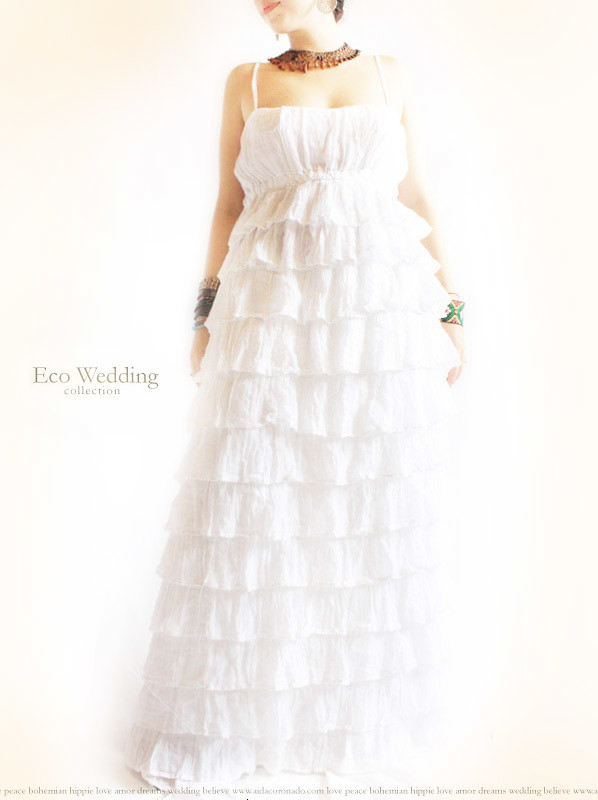 Las Olas Mexican Ruffled Maxi Wedding Dress Aida Coronado