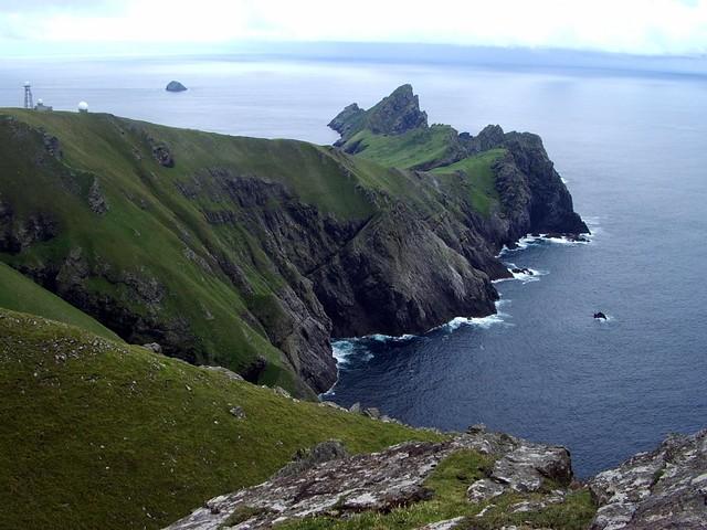 Isla de Hirta. Archipiélago de San Kilda, Hébridas Exteriores de Escocia