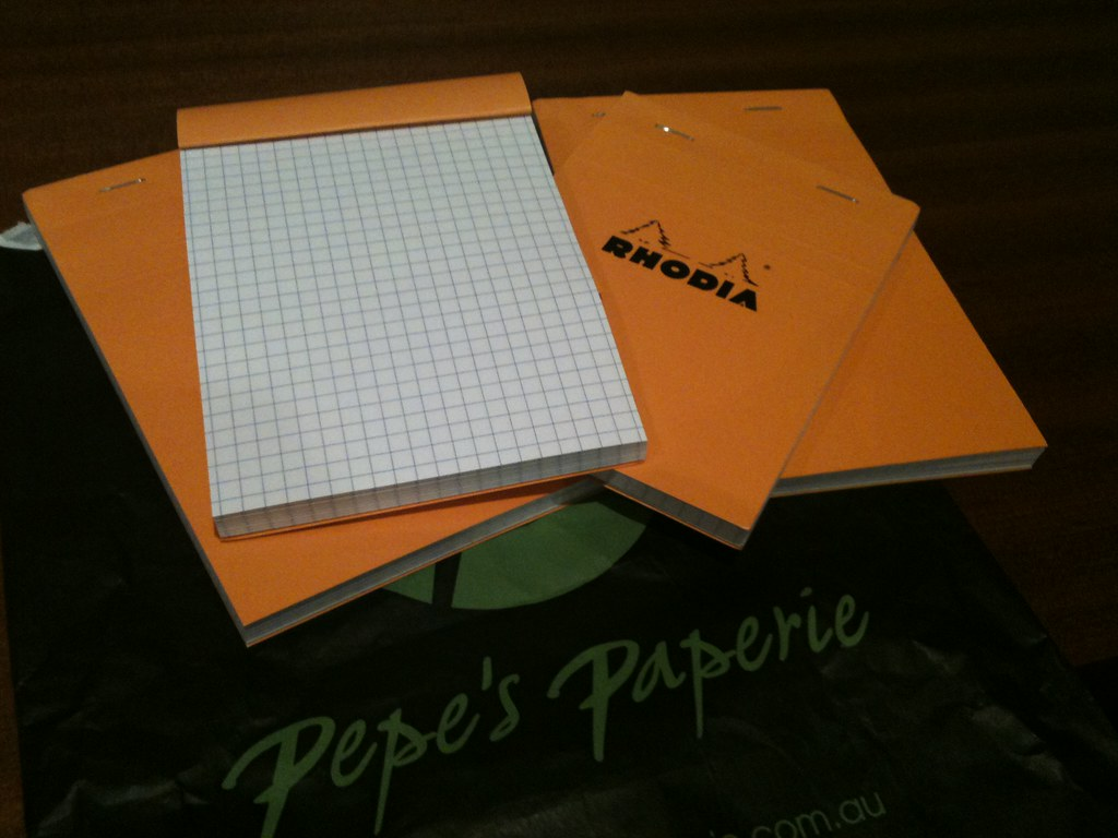 Graph paper notepads
