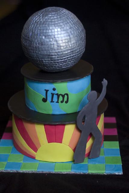 Disco Ball Cake Topper