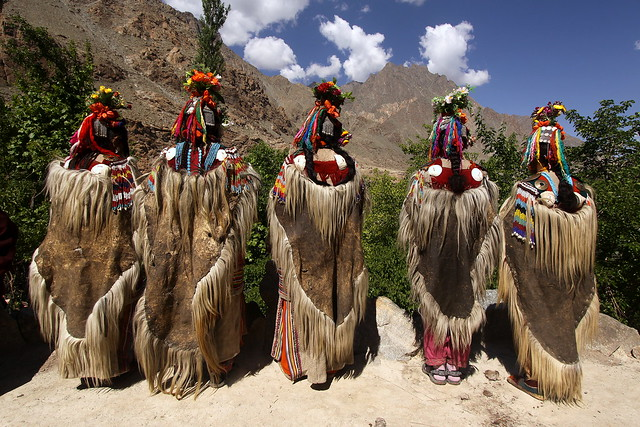 india - traditional dances and culture of the brokpa people