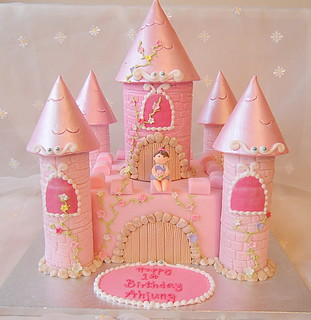 Castle cake for baby's first birthday
