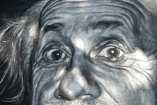 Albert Einstein painted portrait _DDC9387