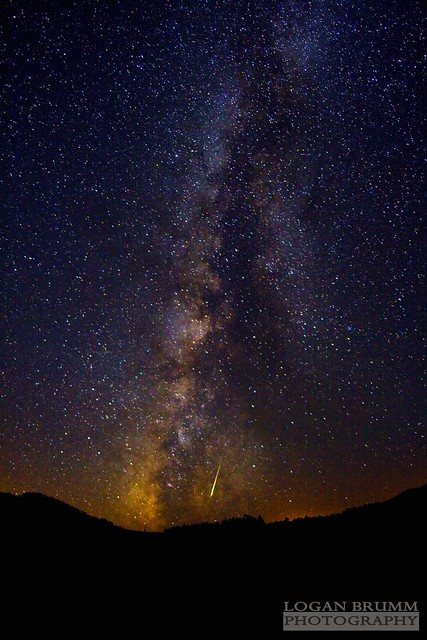 2010 Perseid Meteor Shower and Milky Way Comet - Flagstaff Arizona