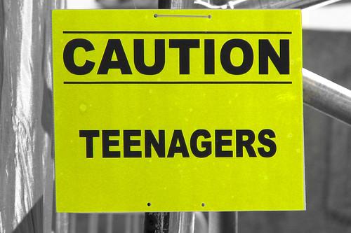 Caution: Teenagers