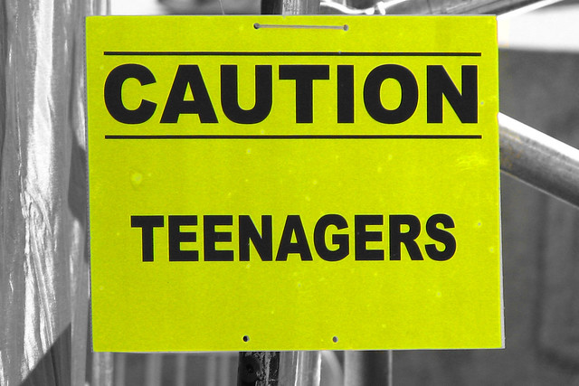 Caution: Teenagers from Flickr via Wylio