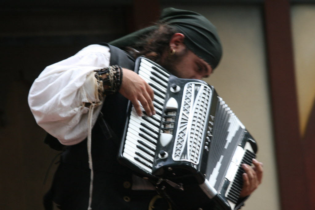 Accordion pirate | Quinn Dombrowski | Flickr