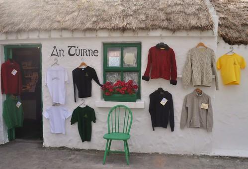 Aran sweaters.