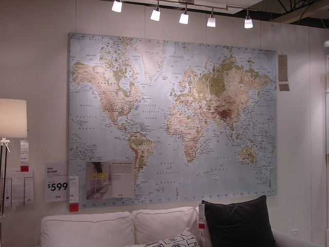 Ikea Premiar world map on canvas This one 39 Flickr