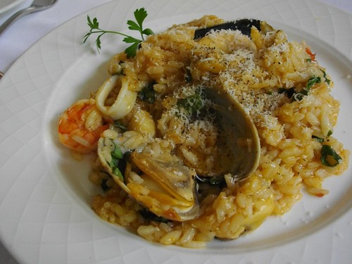Risotto di Frutti di Mare - Risotto with Seafood and Spicy Tomato Sauce (Main) | by kawanet