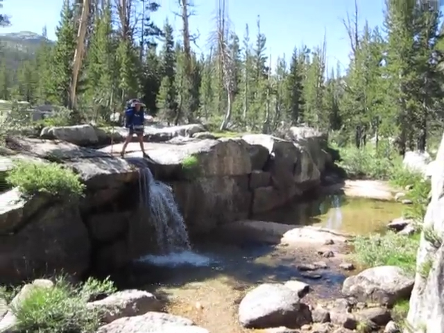 3096 Video of yet another waterfall as we hike downstream