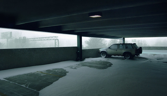 Parking Garage at Lake Quannapowitt during a Noreaster; Wakefield, MA (2006)