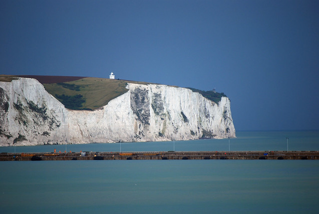 White Cliffs of Dover in England by Flickr user hbarrison