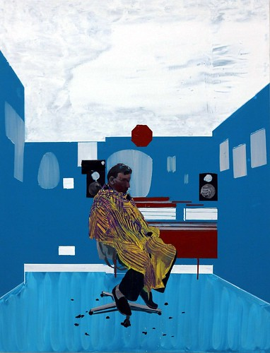 Peter's sitters 3, 2009. Oil on canvas by Hurvin Anderson by annemmu