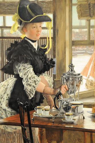 James Tissot - Tea at New York Metropolitan Art Museum