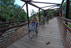 That's one sexy bike bridge over the Poudre River in Fort Collins!