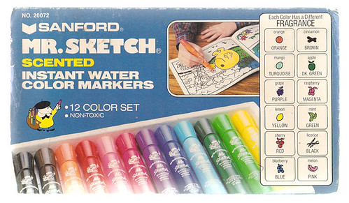 Vintage Sanford Mr. Sketch Scented Markers Box Set