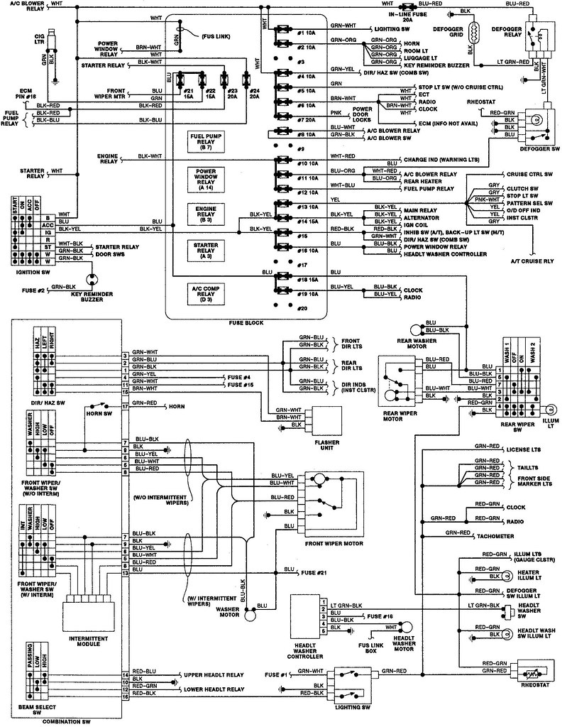 wiring diagram 1992 isuzu rodeo wiring diagram k10 92 Isuzu Rodeo Wiring Diagrams wiring diagram 1992 isuzu rodeo