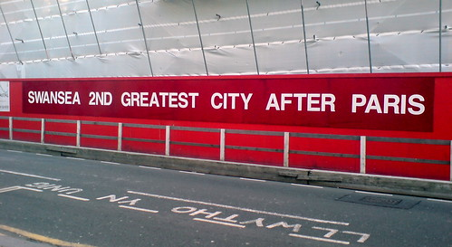 SWANSEA 2ND GREATEST CITY AFTER PARIS