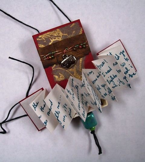 Valentine necklace and book