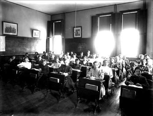 A classroom scene from way back