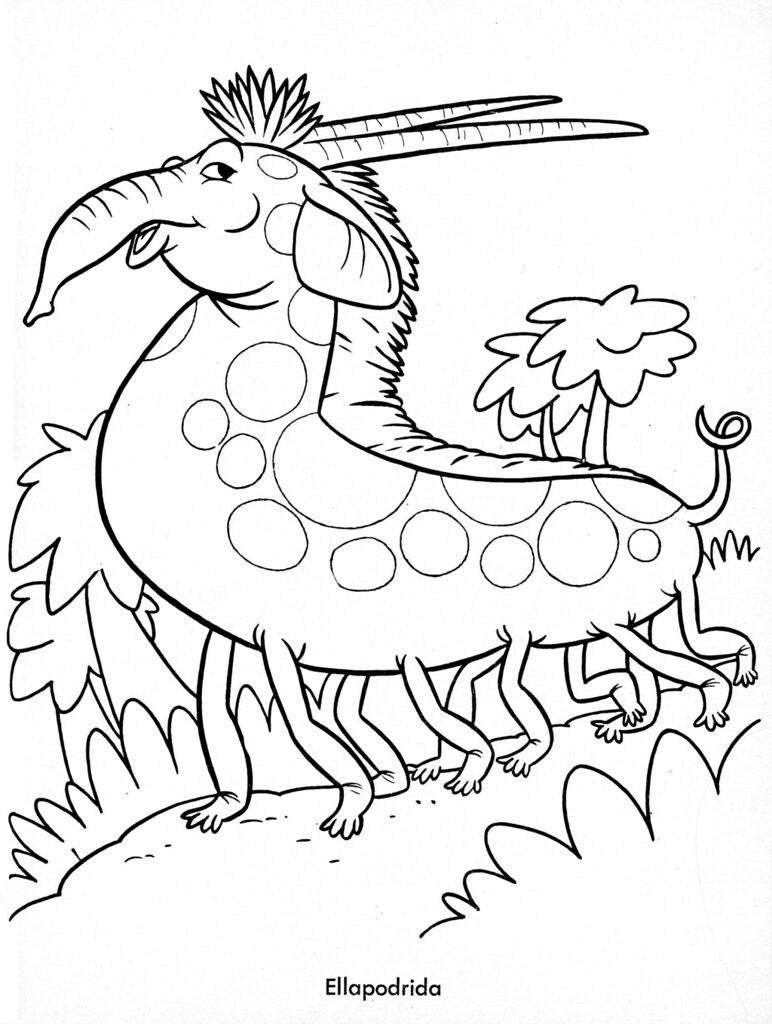 silly monster coloring pages - monster brains funny monsters coloring book 1965