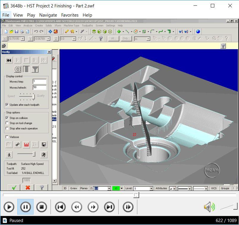 MASTERCAM V9-X6 VIDEO TRAINING FOR PROFESSOR