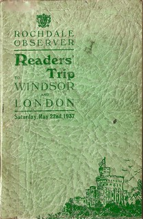 Rochdale Observer Readers' trip to Windsor and London, May 22 1937 - brochure cover