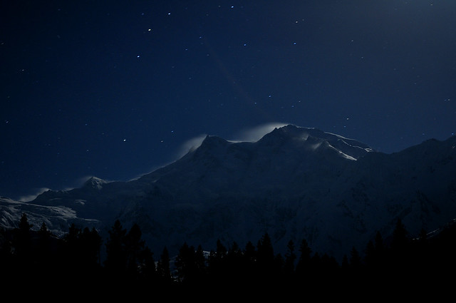 Nanga Parbat at midnight