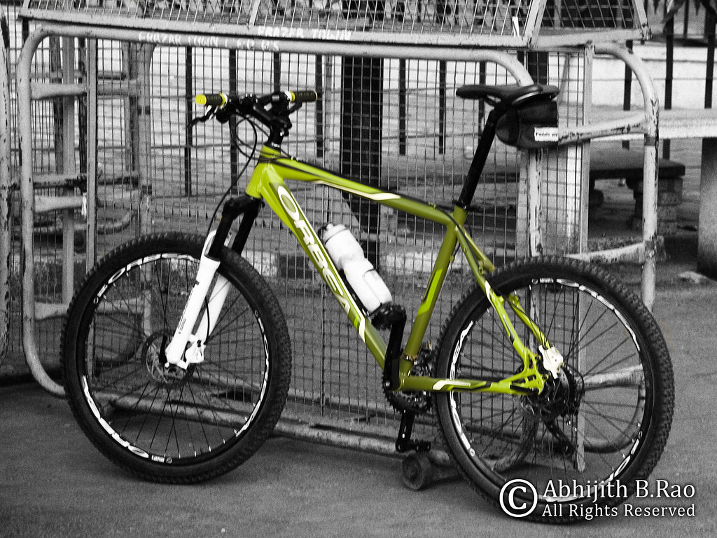 Orbea green mountainbike