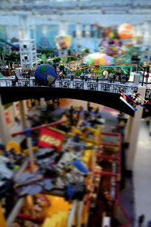 Lego land view from Mall of America