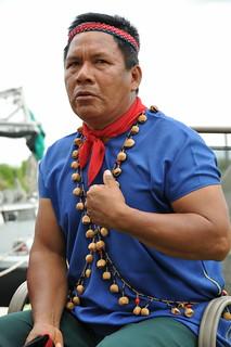 Emergildo Criollo sharing his oil spill experiences in Grand Bayou