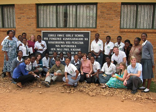 OCC Group Outside of FAWE Girls' Secondary School