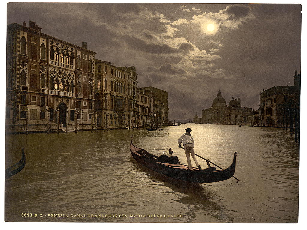 [Grand Canal by moonlight, Venice, Italy] (LOC)
